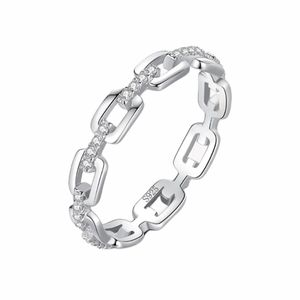 925 Sterling Silver Links Ring